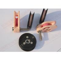 Buy cheap Black HRA 88  Plastic Cable pulley wheels With Bearings for wire winding machine product