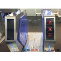 Buy cheap Access Control Automatic Flap Barrier Gate Walk Through Optical Turnstile from wholesalers