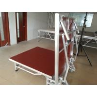 Buy cheap Red Light Weight Aluminum Folding Stage With Wheels Strong Loading Capability from wholesalers