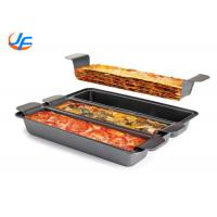 Buy cheap 3 Division Non Sticker Pullman Loaf Pan , Lasagna Baking Pan Meat Loaf Pan With Insert from wholesalers