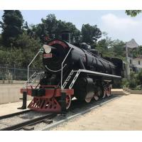 Buy cheap Welding Large Outdoor Statues / Metal Locomotive Sculpture For Theme Park from wholesalers