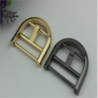Buy cheap Wholesale custom bag belt buckle zinc alloy half-round shape 38 mm pin buckle for belts from wholesalers