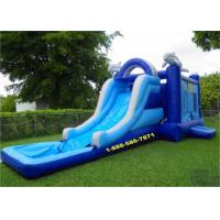 Buy cheap Mini Backyard Inflatable Water Slides / Amusement Park Water Slide And Bouncer from wholesalers