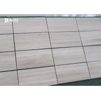 Buy cheap Grey Wood Grain Color Marble Stone Tile For Interior Wall Cladding High Hardness from wholesalers