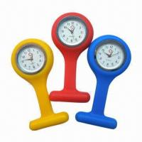 China Nurse Silicone Quartz Watches, 10 Colors, China Movement, Alloy Case, OEM Ok on sale