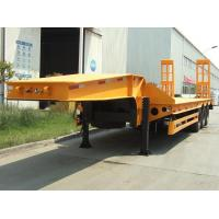 Buy cheap Strong quality 60ton low bed trailer 3 axle low loader trailer from wholesalers
