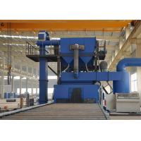 Buy cheap Rust Removal Steel Plate Shot Blasting Machine With Roller Conveyor Blue Color from wholesalers