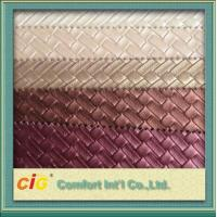 Buy cheap Upholstery Fake Leather Fabric Classic Woven with Knitted Backing product