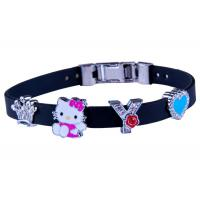 Buy cheap Cute Adjustable Silicone Bracelet Personalized For Youth With Metal Clasp from wholesalers