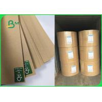 Buy cheap 160gsm Kraft Liner Board Jumbol Roll For Corrugated Boxes Excellent Strength from wholesalers