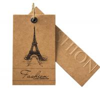 Buy cheap Kraft Paper Bespoke Clothing Labels , Custom T Shirt Labels Brown Solid Surface from wholesalers