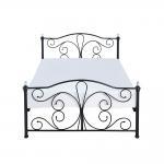 Buy cheap Full King Size Black Metal Platform Bed Electrostatic Powder Coating from wholesalers