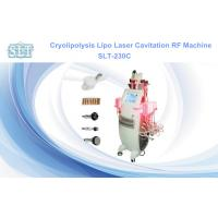 Buy cheap 5 In 1 Cryolipolysis Fat Freezing Equipment , Cavitation RF Lipo Laser Fat Removal Machine from wholesalers
