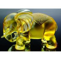 Buy cheap Amber Colored Glaze Indoor Home Decoration Elephants Figurine Statue 135*80*115mm from wholesalers
