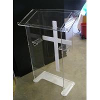Buy cheap Custom Made Modern Acrylic Furniture Clear Lectern With White Cross product