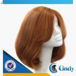 Buy cheap natural 100% european hair bob style silk top short hair lace jewish wig kosher wigs from wholesalers