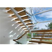 Buy cheap Mono Stringer Wood And Metal Staircase Design Flexibility With Zero Defect from wholesalers