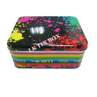 Buy cheap Metal Christmas Rectangular Tin Box Packaging  With Pvc Window from wholesalers