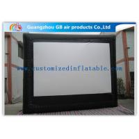 Buy cheap Custom Frame Style Inflatable Movie Screen / Theater Screen For Outside Garden Film product