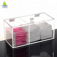 Buy cheap Clear Cotton Pad And Q-Tip Organizer Cotton Acrylic Swab Holder from wholesalers