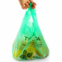 Buy cheap 40 % Bio Based Biodegradable Plastic Shopping Bags , Eco Friendly Plastic Bags product