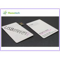 Buy cheap Full Color Logo Printing Credit Card USB Storage Device / Business Card USB from wholesalers