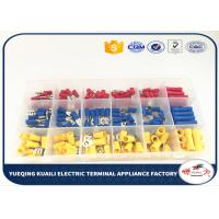 Buy cheap Transparent Box Subpackaging Red Yellow Blue Assorted electrical terminal kit Insulated 180 Pcs wire connector kit from wholesalers