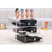 Buy cheap clear makeup storage organizer acrylic cosmetic brush display stand from wholesalers