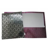 "Buy cheap 9.5"" x 12"" 2-Pockets Fashion Paper Portfolio Folder with Hologram Laser Film from wholesalers"