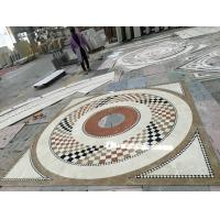 Buy cheap Commercial Mosaic Floor Medallions , Modern Design Waterjet Floor Medallions from wholesalers