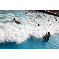 Buy cheap Outdoor Water Park Wave Pool / Security swimming pool wave machine product