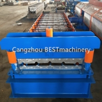 China PLC Trapezoid Metal Roof IBR Sheet Roll Forming Machine on sale