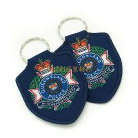 Buy cheap Soft Garment Custom Woven Badges Shoulder Patches Any Size / Color Available from wholesalers