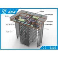 Buy cheap Automatic / Hand - Push Full Height Turnstile Gate Channel Width 550 - 600mm 25 Persons / Min from wholesalers