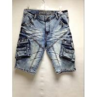 Buy cheap Wrinkle Free Mens Short Pants Jeans With Embroidered Pocket Machine Washable from wholesalers