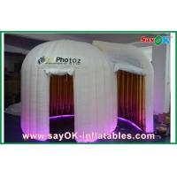 Buy cheap 4 x 3 x 2.5m Inflatable Photo Booth Gold Inside White Outside Waterproof from wholesalers