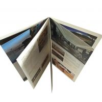 Buy cheap Custom paper catalogs advertising brochure printing UV Printing Saddle Stitching from wholesalers