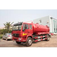 Buy cheap Red 4×2 Sewer Removal Truck / Septic Vacuum Trucks With Volume 10 M3 Tank \ from wholesalers