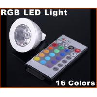 Buy cheap DC12V 3W MR16 RGB 16 Colors Energy-saving remote controlled LED Light Bulb from wholesalers