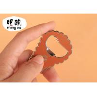 Buy cheap Unique Finger Beer Bottle Openers Zinc Alloy Key Tag Shape With Hard Enamel product