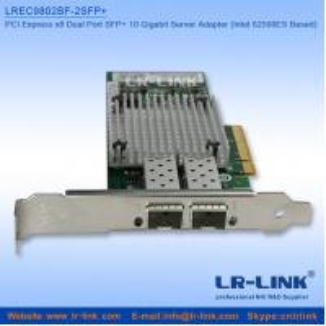 China 10Gbe PCI-E x8 Dual SFP+ Fiber NIC Server Adapter NIC(Intel 82599ES Based) on sale
