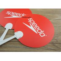 Buy cheap Popular Custom Plastic Hand Fans Red Durable Die Cut Round Shape from wholesalers