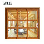 Buy cheap Gold Double Glazed Aluminium Sliding Doors / Living Room Aluminium Folding Sliding Doors from wholesalers