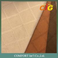 Quality 100% Polyester Plain Emboss Dot Embroidery Suede Sofa Upholstery Fabric for for sale