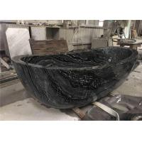 Buy cheap Pedestal Natural Stone Bathtub Marble Material With Black Wooden Veins from wholesalers