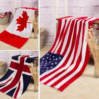 Buy cheap Towel Wholesale pure cotton Bath towel Beach Canadian flag   American flag British flag from wholesalers