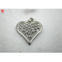 Buy cheap Antique Metal Sliver Heart Pendant Charms Necklace , Rhinestone Pendant from wholesalers