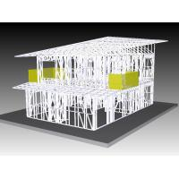 Buy cheap Office Light Steel Frame Houses , Prefabricated Kit Home For South Africa from wholesalers