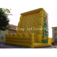 Buy cheap 0.55mm PVC Tarpaulin Inflatable Sports Games / Exciting Outdoor Rock Inflatable Climbing Mountain from wholesalers
