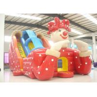 Buy cheap Big clown cartoon inflatable slide - inflatable long slide with arch from wholesalers